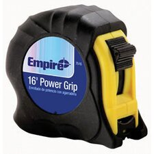 X 25' Black Power Grip Tape Measure With Black Rubber Boot