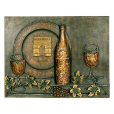 Wine Rectangular Wall Décor
