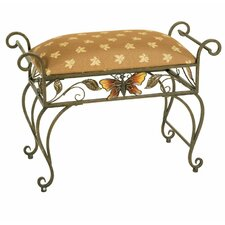 <strong>Passport Furniture</strong> Butterfly Silver Antique Bench