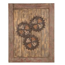 Wooden Cog Wall Décor