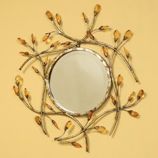 Round Jeweled Mirror