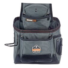 Arsenal 15-Pocket Tool and Fastener Pouch in Gray