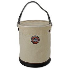 Arsenal Extra Large Leather Bottom Bucket with Top in White