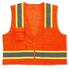 GloWear 8248Z Class-2 Two-Tone Surveyors Vest