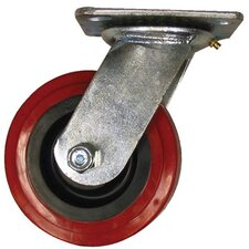 Medium Heavy Duty Casters - 6x2in polyurethane/polyolefin rigid