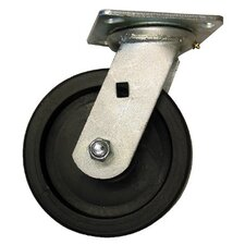 Medium Heavy Duty Casters - 6x2in polyolefin rigidr polyolefin 700lb cap.