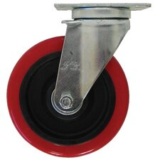 Light Medium Duty Casters - 4x 1-1/4in polyurethane/polyolefin rigid
