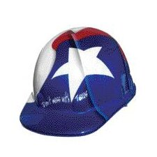 SUPEREIGHT® Class E, G or C Type I Thermoplastic Hard Hat With 3-R Ratchet Suspension And Texas Flag Graphic