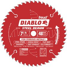 "7-1/4"" 48T Diablo™ Steel Demon™ Ferrous Metal Cutting Circular Saw Blade D"