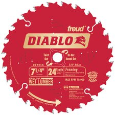 "<strong>Freud</strong> 7-1/4"" 24T Diablo™ Circular Saw Framing Blade"