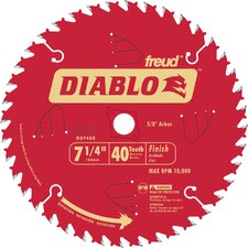 "<strong>Freud</strong> 7-1/4"" 40T Diablo™ Finish Work Circular Saw Blade  D0740X"