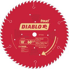 "<strong>Freud</strong> 10"" 60T Diablo™ Fine Finish Work Chop Miter and Table Saw Bl  D1060X"