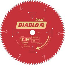 "12"" 80T Diablo™ Fine Finish Work Chop/Slide Miter Saw Blade  D1280X"