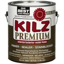 1 Gallon White Flat Kilz® Premium Water Based Sealer Primer & Stainblocker