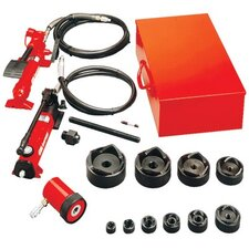"Slug-Out™ Hydraulic Knockout Set 1/2 to 4"" w / hand pump"