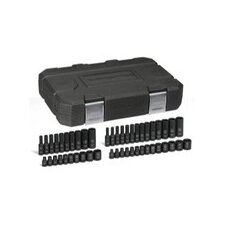 "<strong>GearWrench</strong> 48 Pc. 1/4"""" Drive Impact Socket Set Stnd/Deep Sae/"