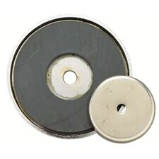 "Shallow Pot Ceramic Magnets - 3-1/4""dia. shallow potmagnet 50-lb pull"