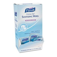 Purell Cottony Soft Individually Wrapped Hand Sanitizing, 120/Box