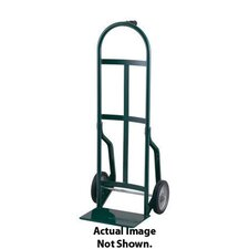 "46T Series 800 Pound Frame Capacity Pin Handle Steel Hand Truck With 8"" Offset Poly Hub Solid Rubber Wheels"