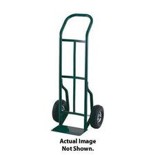 "52T Series Continuous Handle Steel Hand Truck With 8"" Offset Poly Hub Solid Rubber Wheels"