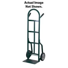 "40T Series Dual Handle Hand Truck With 10"" Solid Rubber Tires"