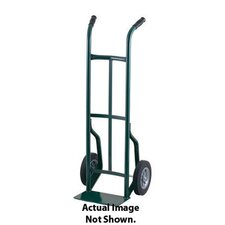 "50T Series Dual Handle Steel Hand Truck With 8"" Offset Poly Hub Solid Rubber Wheels"