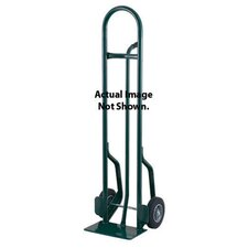 "CTP Series Tall Steel Hand Truck With Pin Handle And 10"" Offset Poly Hub Solid Rubber Wheels"