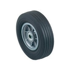 "8"" X 2 1/4"" Offset Poly Hub Solid Rubber Wheel"