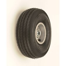 "10"" X 3 1/2"" Pneumatic 4-Ply Tire-Tube Wheel"