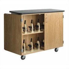 <strong>Diversified Woodcrafts</strong> Mobile Microscope Storage Cabinet
