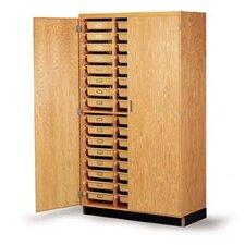 "84"" H x 48"" W x 22"" D Tote Tray Storage Cabinet"