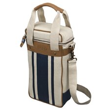 Stripe Duo Newport Wine Tote Bag