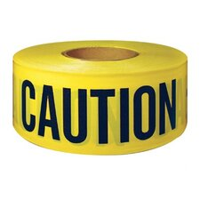 "Barricade Tapes - ut-600cc 3""x300' cautiontape black/yello"