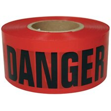 "Barricade Tapes - ut-600rd 3""x1000' red danger tape"