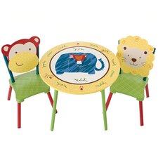 Jungle Jingle Kids' 3 Piece Table and Chair Set