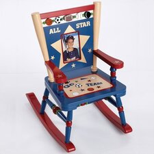 Rock A Buddies All Star Sports Mini Kid Rocking Chair