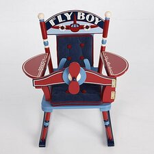 Rock A Buddies Fly Boy Airplane Kid's Rocking Chair