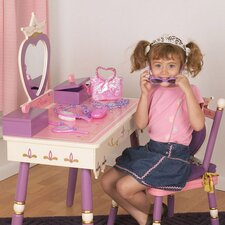 "Princess 15.5"" Vanity Table & Chair Set"