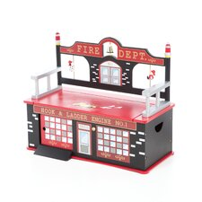 Firefighter Kid's Storage Bench