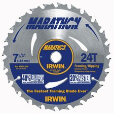 "7-1/4"" 24 Tooth Marathon® Portable Corded Circular Saw Blade"