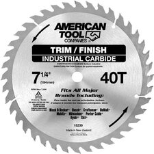 "7-1/4"" 40T Trim & Finish Circular Saw Blade  15230"