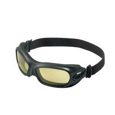Dust And Impact Goggles With Black Heat Resistant Frame And Amber Anti-Fog Lens (12 Per Box)