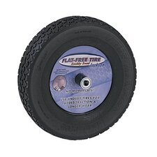 "Flat Free Tires - jackson knobby flat freetire (mounted on 8"" whl)"