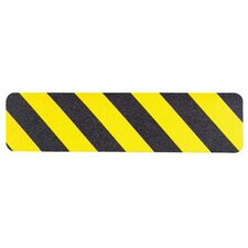 Safety Track® 3300 Commercial Grade Tapes & Treads - anti-skid treads polyester yellow/bl  6 inx24""