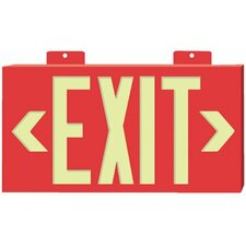 Glo Brite® Eco Framed Exit Signs - glo brite eco framed exit signs red frame