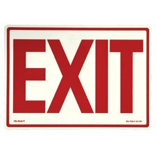 Glow In The Dark Exit Signs - peel and stick eg sign yellow/black; green text