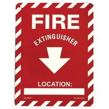 Glow In The Dark Fire Signs - glow in the dark fire extinguisher signs  rigid