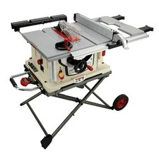 "15 Amp 120 V Single Phase 10"" Blade Diameter Jobsite Table Saw with Stand"