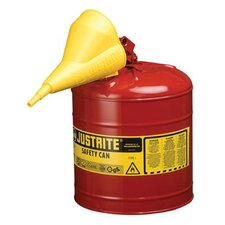 Justrite - Type I Safety Cans 5G/19L Safe Can Red W/Funl: 400-7150110 - 5g/19l safe can red w/funl