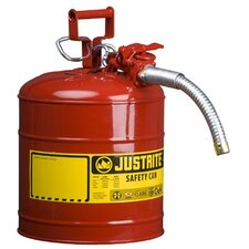 "Type ll Safety Cans for Flammables - 5g/19l iiaf red 1"" hose"